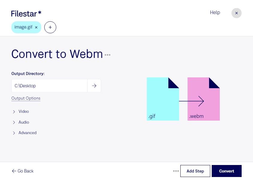 convert gif to webm