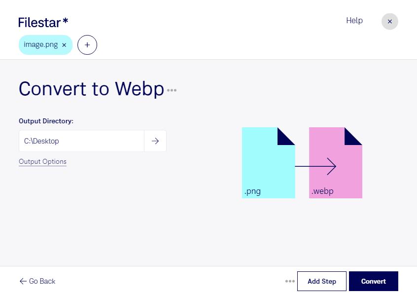 convert png to webp